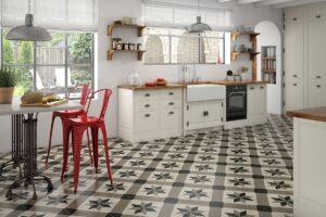 Напольная плитка в интерьере современной кухни